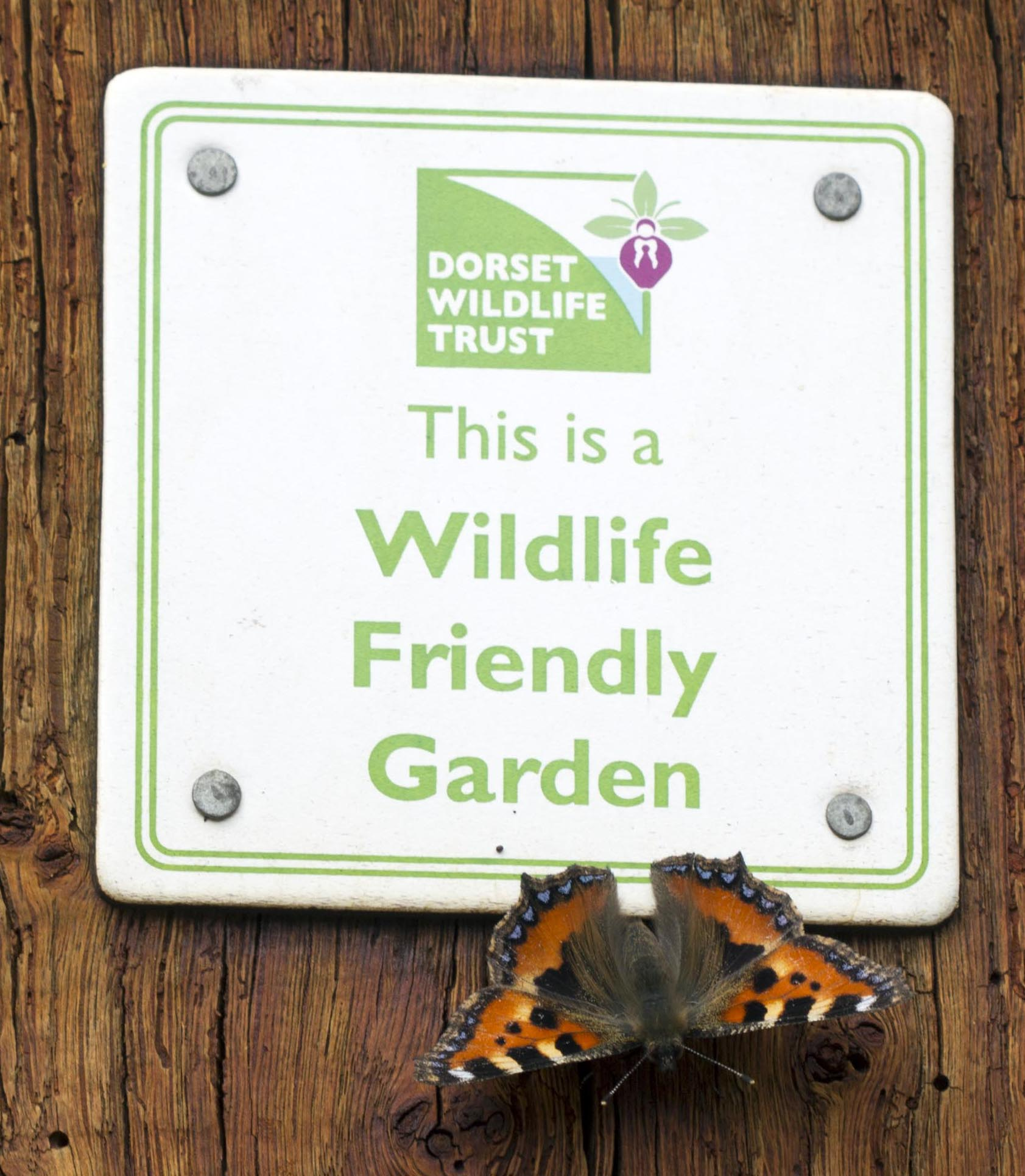 DWT garden plaque with butterfly