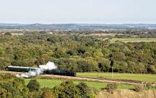 Swanage steam train from Corfe Castle